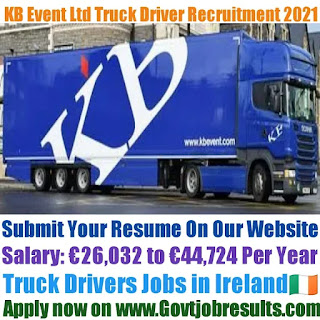 KB Event Ltd Truck Driver Recruitment 2021-22