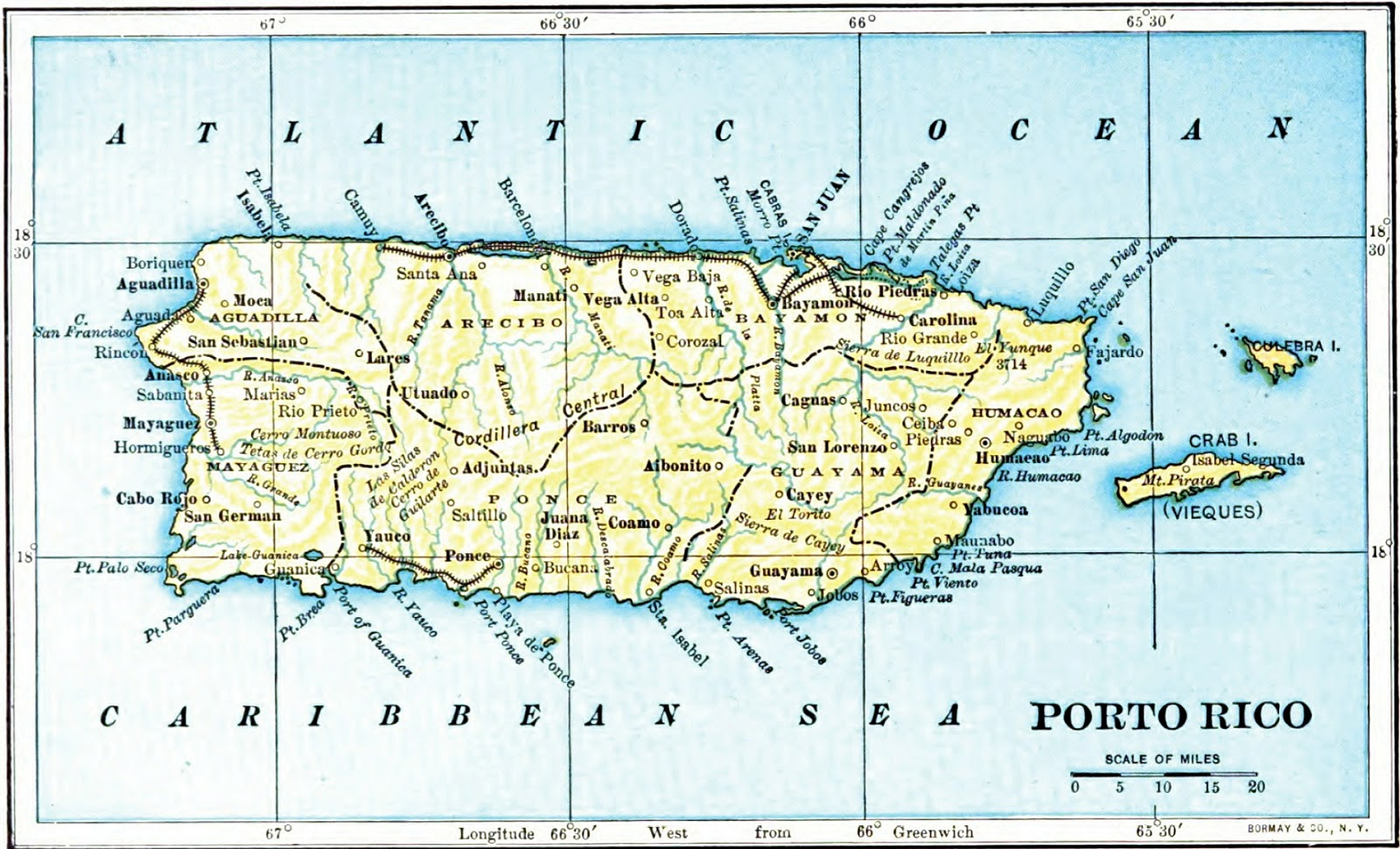 puerto rico geographical map Puerto Rico Geographical Maps Of Puerto Rico Global Encyclopedia puerto rico geographical map