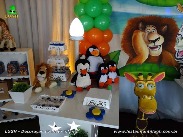 Tema Madagascar - decoração de festa infantil