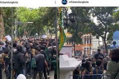 Demo Tolak PPKM Di Bandung, Mahasiswa Mulai Teriak Revolusi