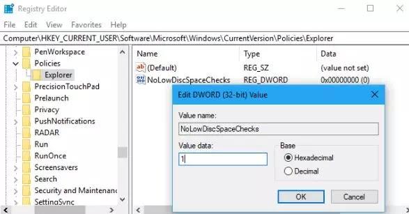 Cara Menonaktifkan Peringatan Low Disk Space Windows 10-4