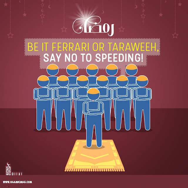 purpose of taraweeh is not to recite Quran as fast as possible