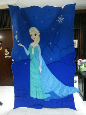 bed cover elsa frozen