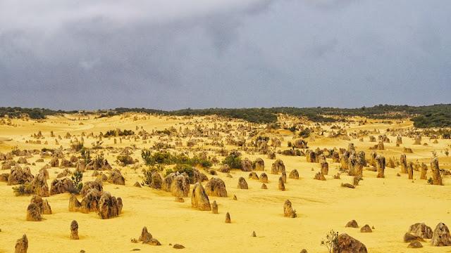 Lancelin nambung national park pinnacles australia perth wa