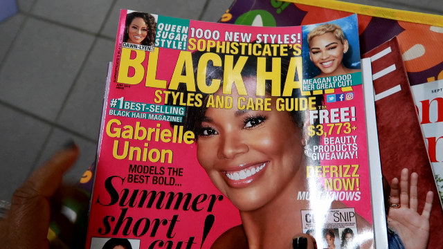Image: Black hair magazines bought by Tangie Bell from the local bookstore in Dallas Texas. Seen first on Bits and babbles blog. Real Life Chat: Reading Magazines That Inspired Me To Break Poverty, Learn To DIY, And Level Up!