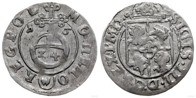 najdroższy półtorak koronny 1616 SIGIS III Bydgoszcz