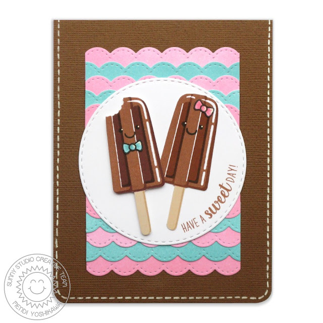 Sunny Studio Stamps Perfect Popsicles Fudgsicle Card by Mendi Yoshikawa