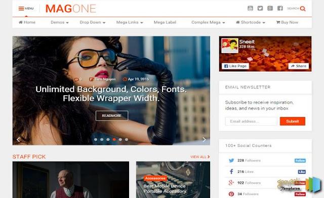 MagOne Blogger Template • Blogspot Templates 2016