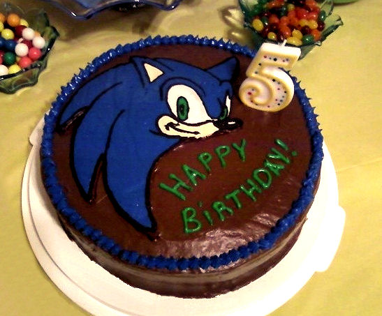 Lainycakes Sonic The Hedgehog Birthday Cake Using Frozen Buttercream Transfer Beginner Level