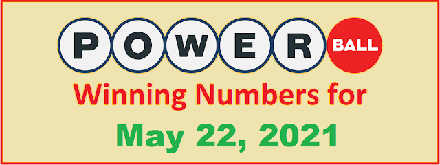 PowerBall Winning Numbers for Saturday, May 22, 2021