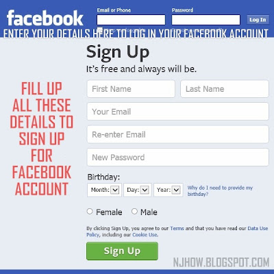 FACEBOOK LOGIN - How to sign up for facebook in 3 easy ...