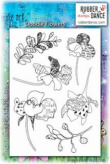 Rubber dance doodle flowers