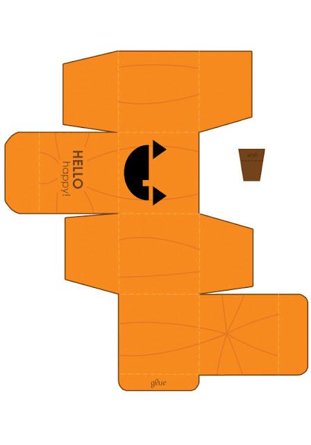 descarga gratis caja halloween forma de cubo con calabaza