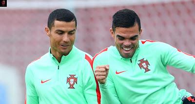 رونالدو و بيبي البرتغال