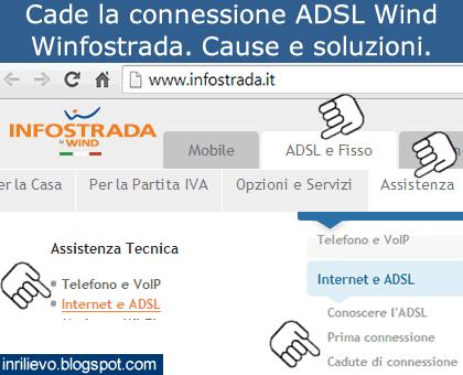 Assistenza Tecnica Wind.In Rilievo Cade La Connessione Adsl Wind Infostrada