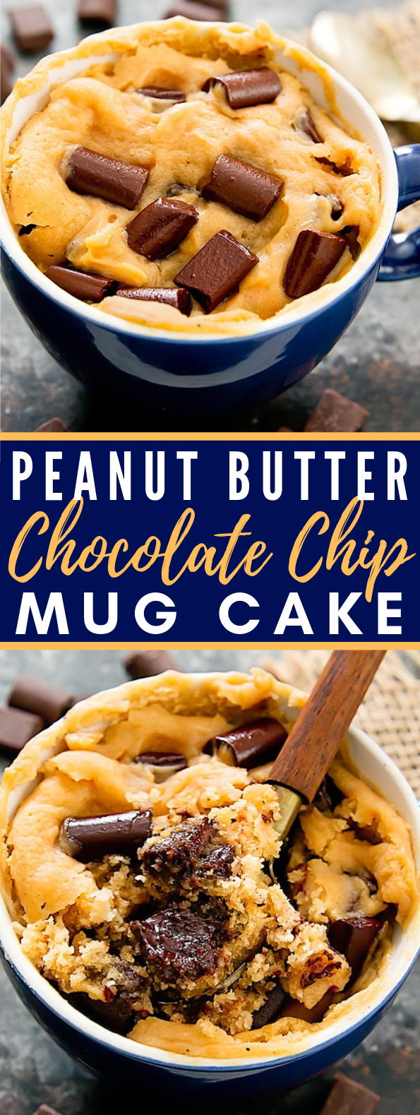 PEANUT BUTTER CHOCOLATE CHIP MUG CAKE #dessert #cookies