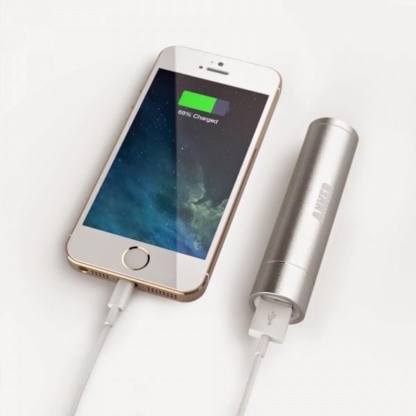 cargando iphone con batería externa