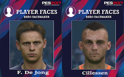 PES 2017 Faces Frenkie de Jong & Jasper Cillessen by Bebo