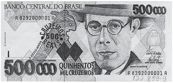 Essa cédula circulou no Brasil entre 29-01-1993 e 15-09-1994