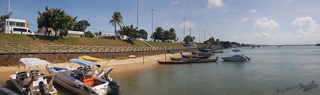 barcos na Praia do Mosqueiro, Orla Pôr-do-Sol, Aracaju, Sergipe