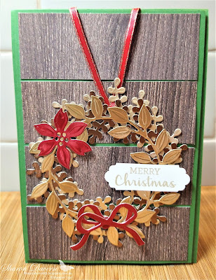 Rhapsody in craft, Arrange a Wreath, Brushed Metallic Card Stock, Aug-Dec Mini 2020,  2020-21 Annual Catalogue, Stampin' Up, Stampinup, In Good Taste DSP, Lovely Labels Pick a Punch, Christmas Cards, Christmas, Heart of Christmas 2020