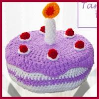 Tarta de cumpleaños amigurumi
