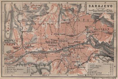 Sarajevo old map