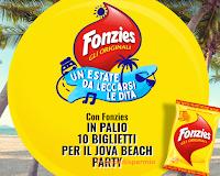 Logo Fonzies ''Un'estate da leccarsi le dita: in palio 10 biglietti per il Jova Beach Party