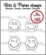 Set van 4 clearstempels van lachende gezichtjes. Set of 4 clearstamps of smiling faces.