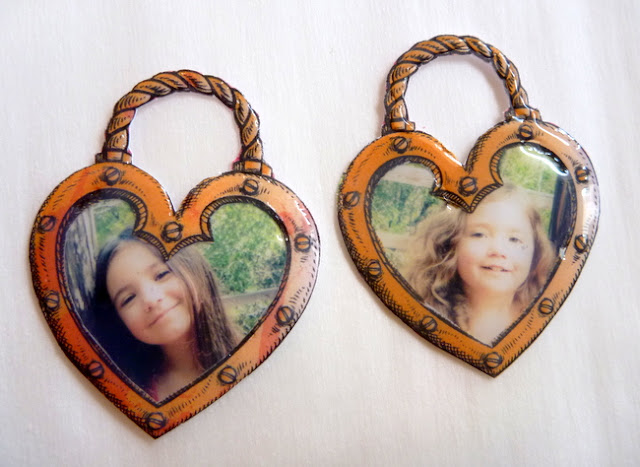 Dimensional Glaze Heart-Shaped Photo Charms Tutorial by Dana Tatar