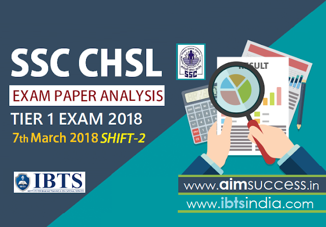 SSC CHSL Tier-I Exam Analysis 7th March 2018: Shift - 2
