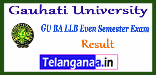 Gauhati University 2nd 4th 6th 8th 10th BA LLB Semester Result 2017