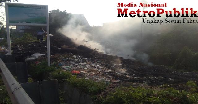 Bekas Lokasi TPA Diduga Sengaja dibakar oleh Warga