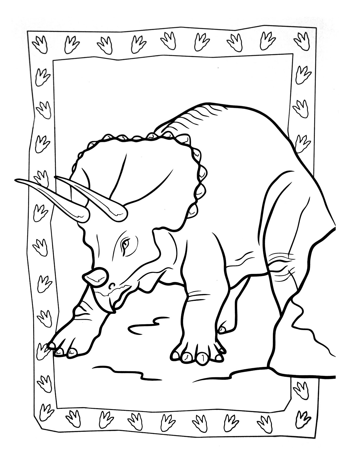 Dinosaurs coloring pages 43