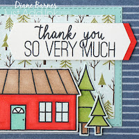 thank you card for moving home occasion, made with Stampin Up Coming Home stamp set and bundle, Trimming the Town paper and Stampin Blends markers. Card by Di Barnes, Independent Demonstrator in Sydney Australia - colourmehappy - sydneystamper - 2020 mini catalogue Stampin' Up!