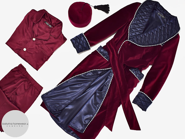 mens burgundy velvet dressing gown robe quilted silk smoking jacket pajamas pyjamas set