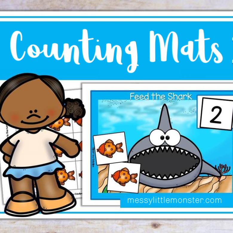 shark counting mats
