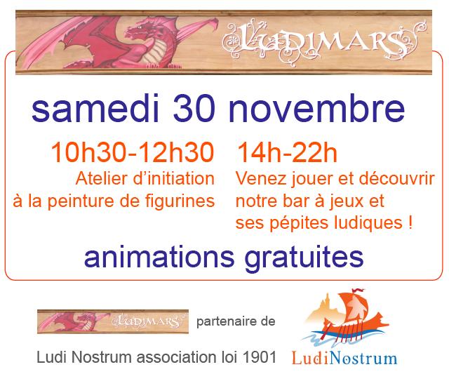 Affiche de Novembre en Jeux à Ludimars