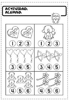 ejercicios de matemáticas para preescolar 3 pdf