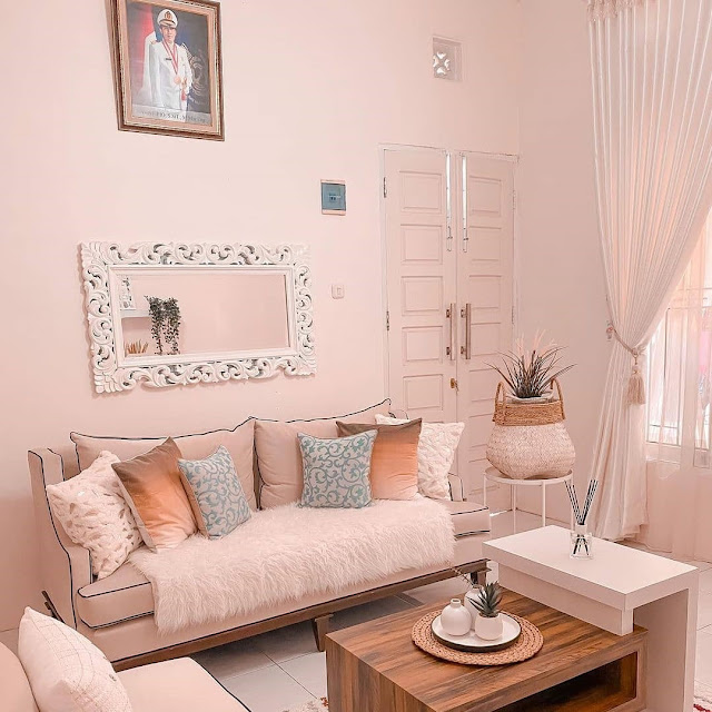 Warna Cat Dinding Ruang Tamu Sederhana yang Cerah