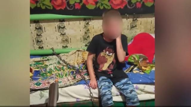 Ребёнок сам позвонил в полицию и рассказал, что муж матери побил его и приковал целью к батарее