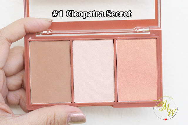 a photo of Cathy Doll 3D Face Forward Contour Kit Review in shades Cleopatra Secret