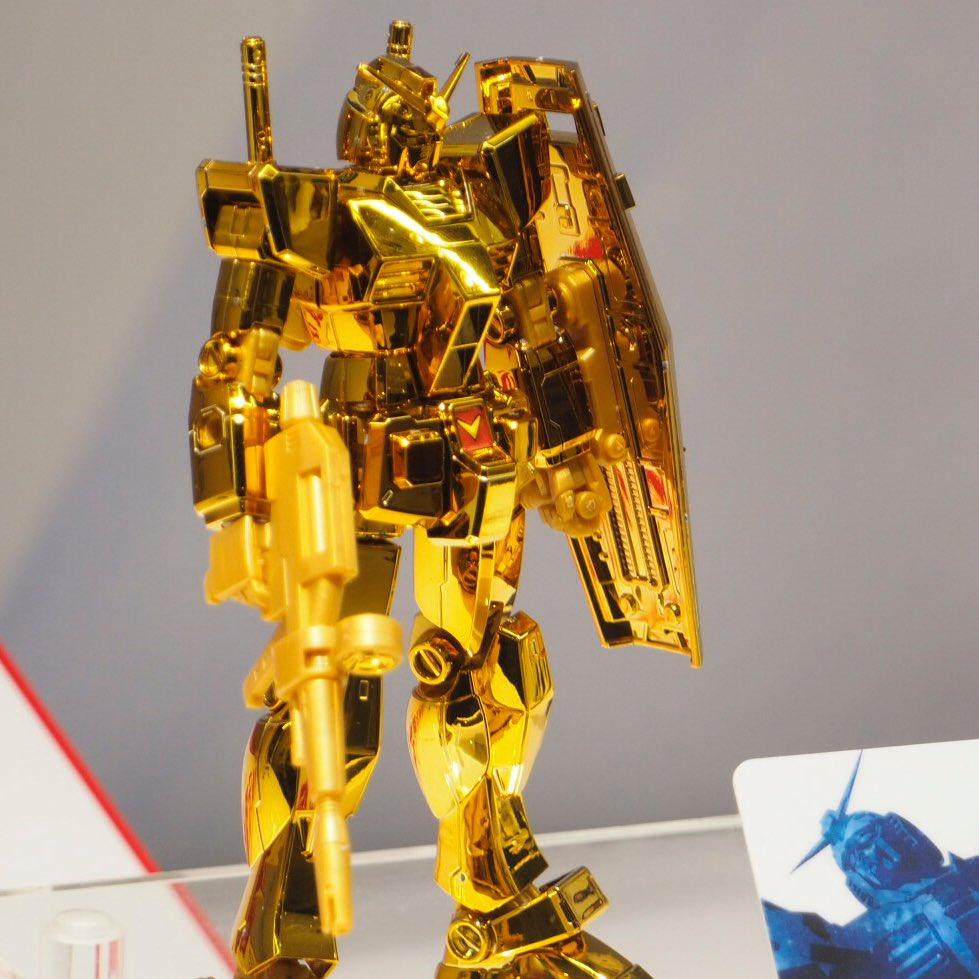 HG 1//144 Gundam Base Limited Premium RX-78-2 Action Base set Kit Gold Coating