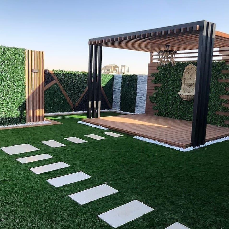 تصميم جلسات حدائق خارجية بالرياض تركيب عشب جداري في الرياض
