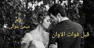 رواية قبل فوات الاوان الفصل الثاني 2 بقلم ميمي عوالي