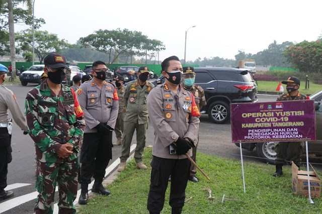 Polresta Operasi Yustisi, 48 Pelanggar Dihukum Nyanyikan Lagu Kebangsaan