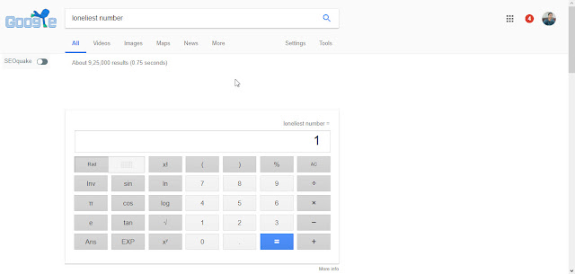 Loneliest Number Google Tricks
