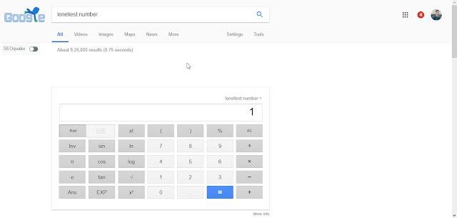 Loneliest Number Google Tricks