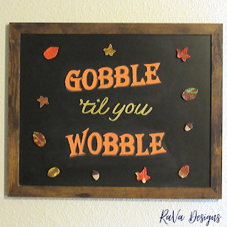 leaves chalkboard quotes sign autumn fall decor rava designs