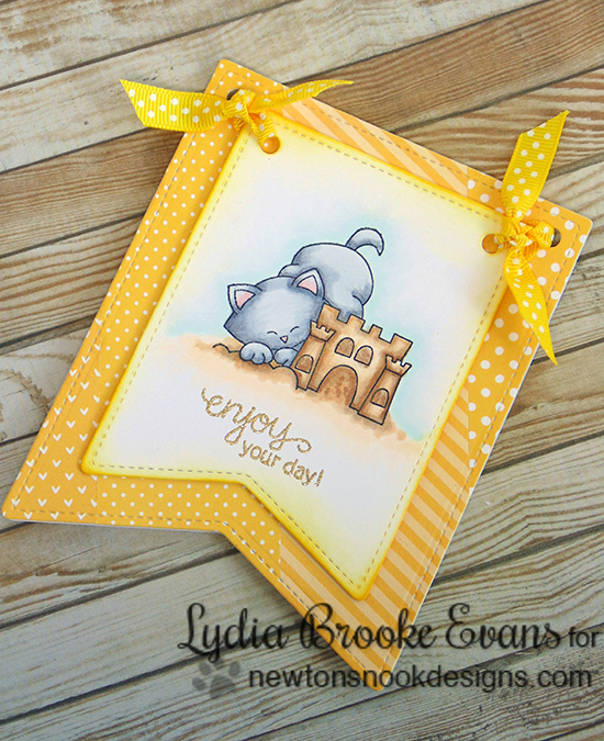 Cat Beach Card by Lydia Brooke for Newton's Nook Designs - Inky Paws Beach Challenge
